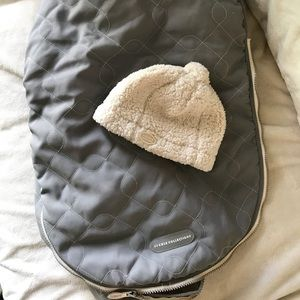 Other - JJ cole car seat cover and infant hat